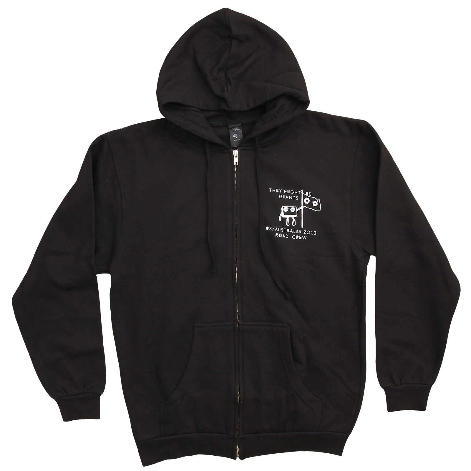 They Might Be Giants - Nanobots Zip Up Black Sweatshirt