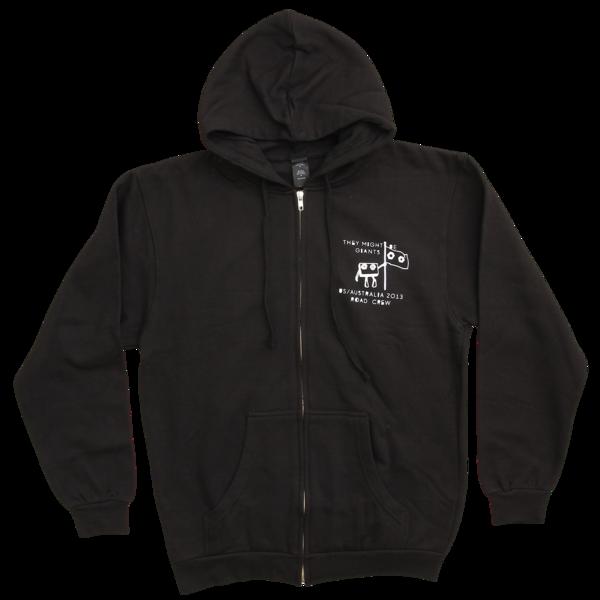Nanobots Zip Up Black Sweatshirt