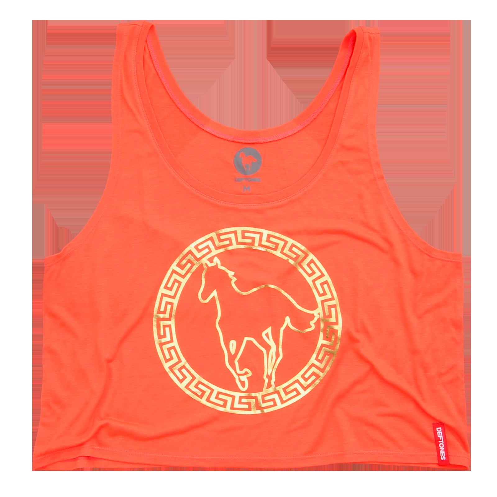 Circle Pony Women's Orange Crop Top