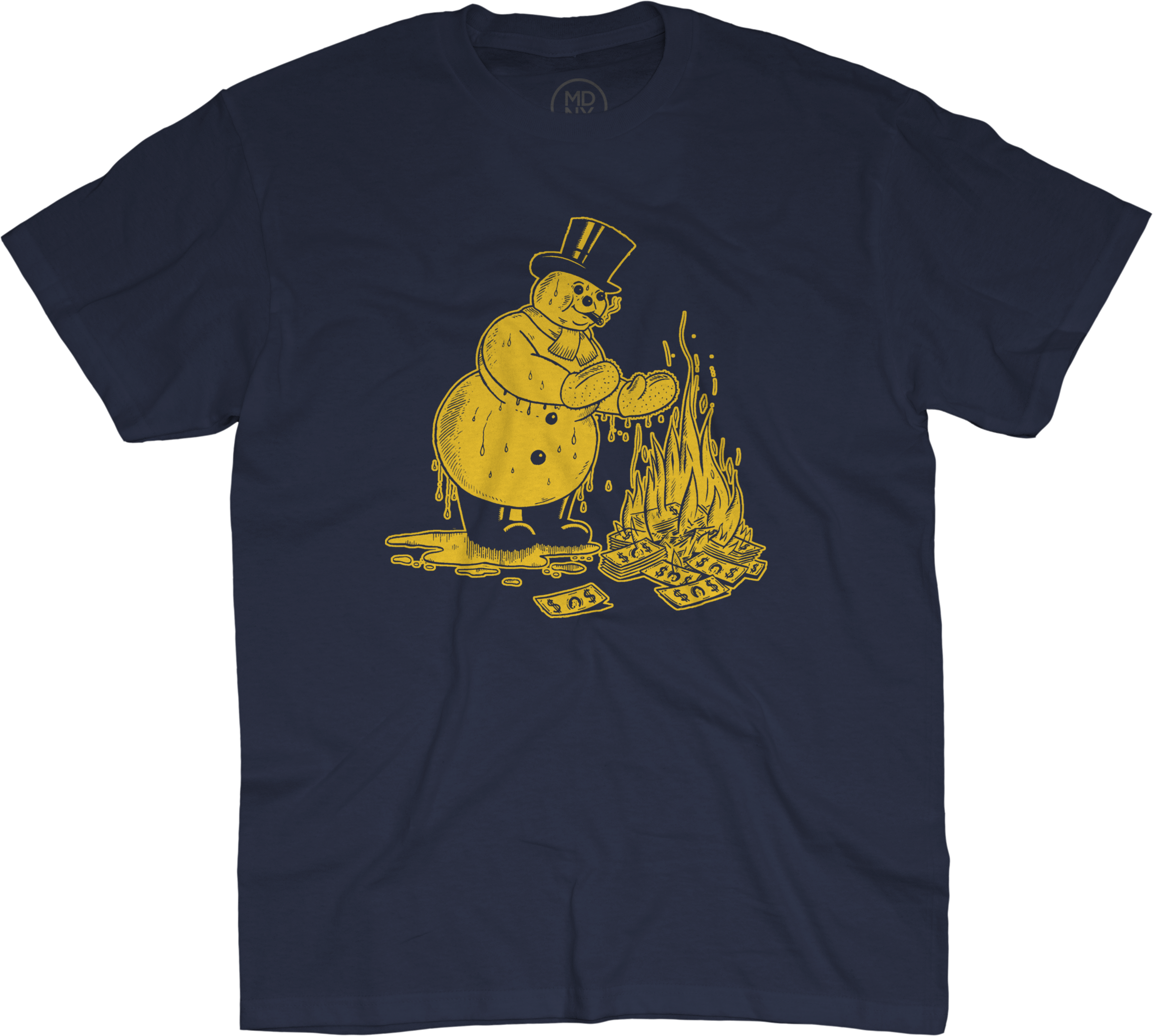 brand new 014b2 cbb9b They Might Be Giants - Snowman on Navy Blue T-Shirt