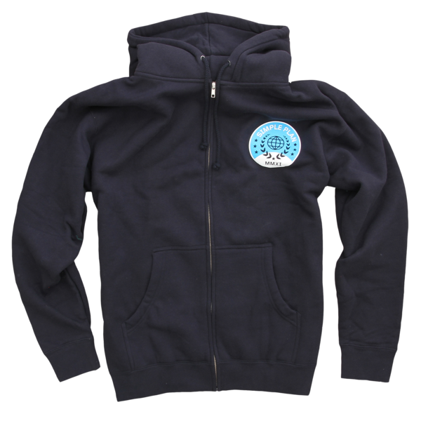 Astronaut Navy Zip Up Sweatshirt