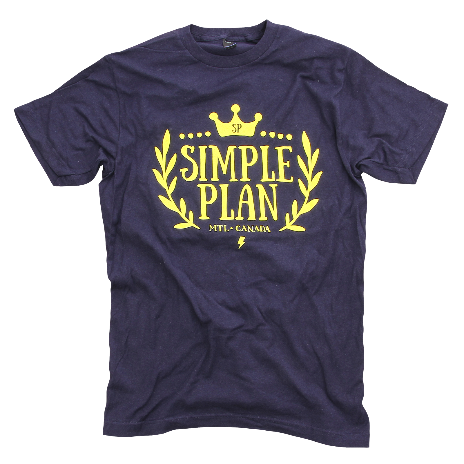 Simple Plan Crown Navy T-Shirt