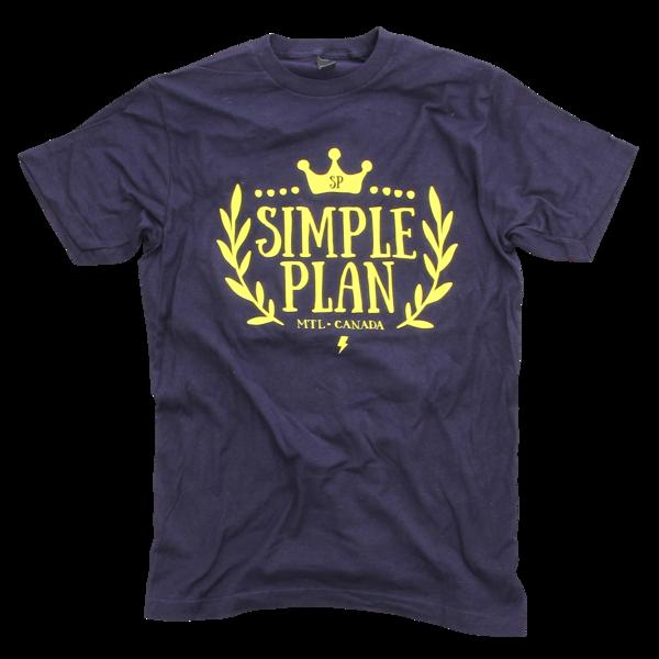 Simple Plan Crown Navy T-Shirt