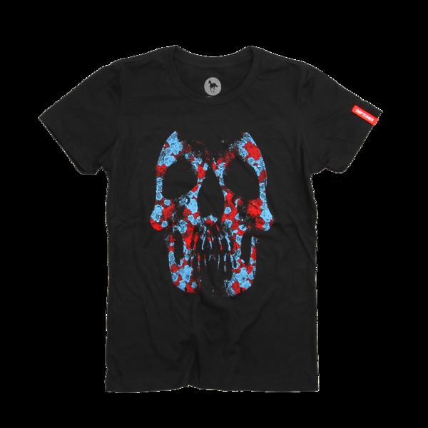 Roseskull Women's Black T-Shirt