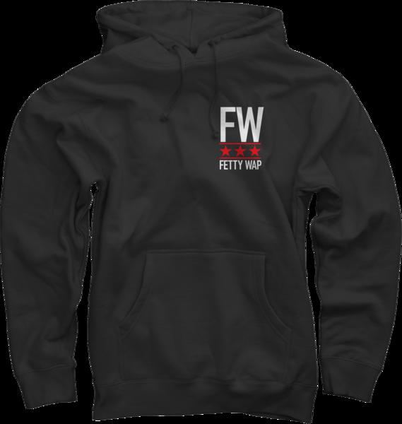 FW Stars Black Pullover Sweatshirt