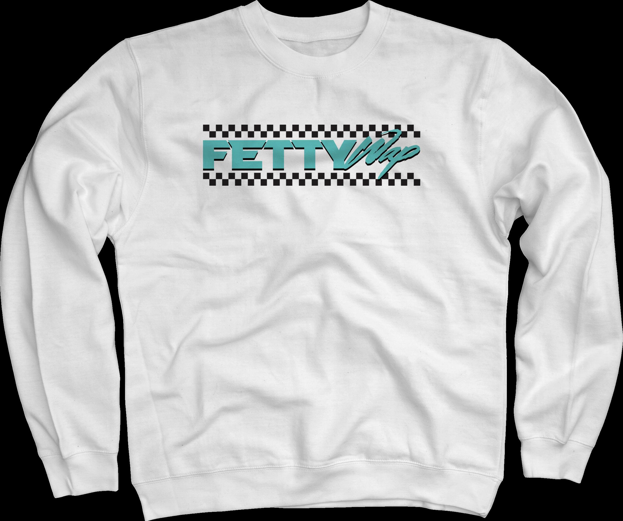 Checkered White Crewneck Sweatshirt