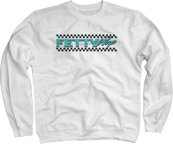Checkered White Crewneck Sweatshirt