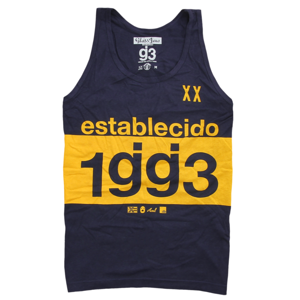 Established Navy Tank Top