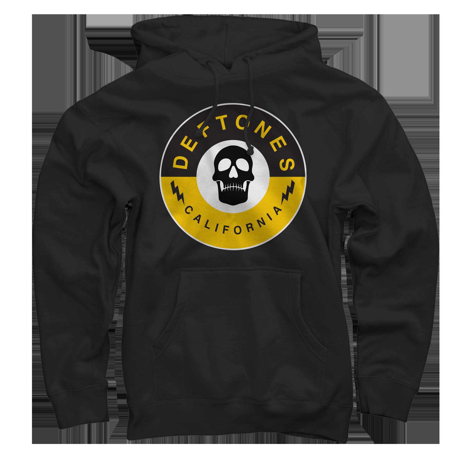 Skull Stamp Black Pullover Sweatshirt