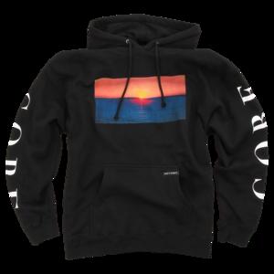 Sunset Black Pullover Sweatshirt