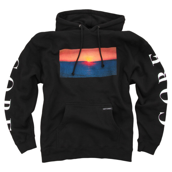 Sunset Black Pullover Sweatshirt