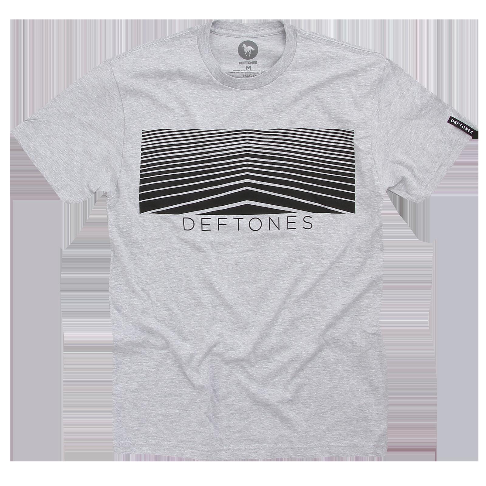 Lines Heather Grey T-Shirt