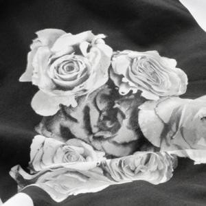 Roses White Pullover Sweatshirt