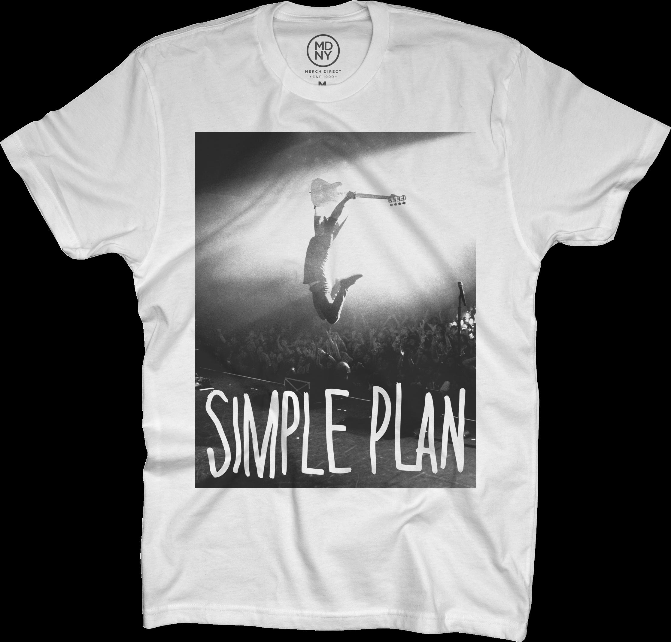 Jump on White T-Shirt