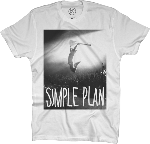 Jump on White T-Shirt
