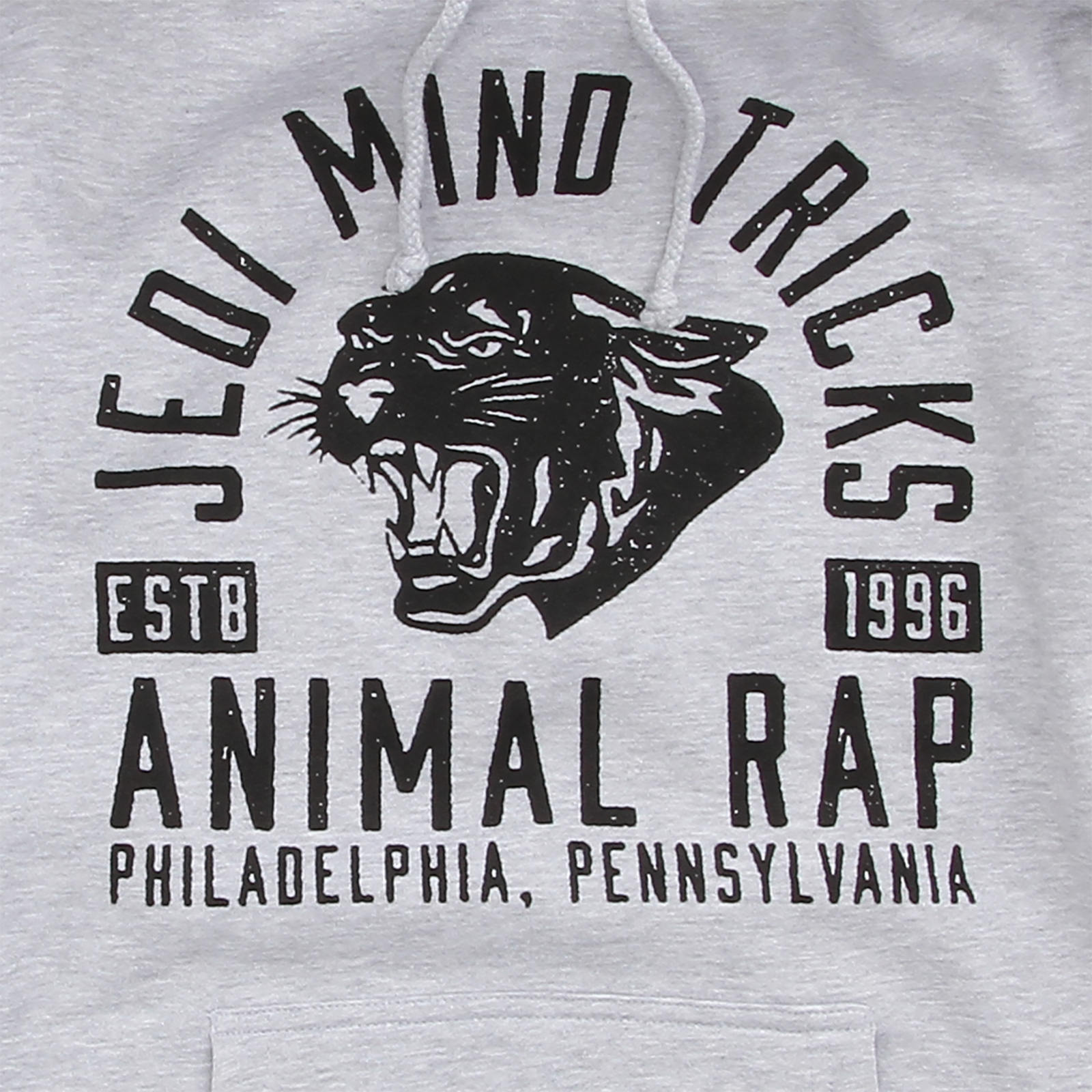 Panther Animal Rap Heather Grey Pullover