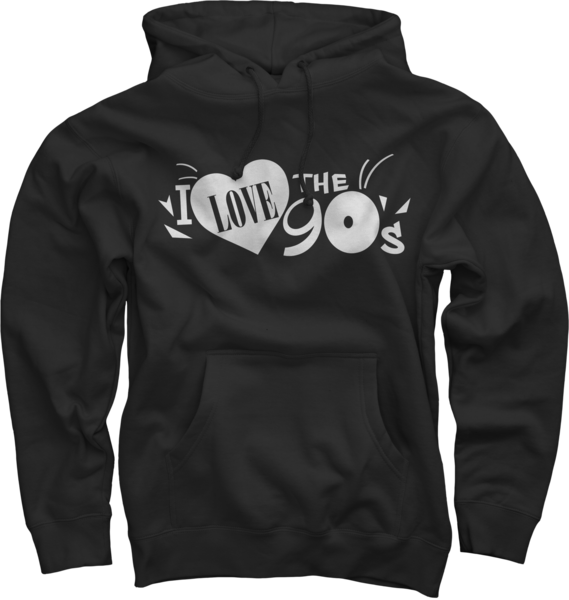 Logo on Black Pullover Sweatshirt