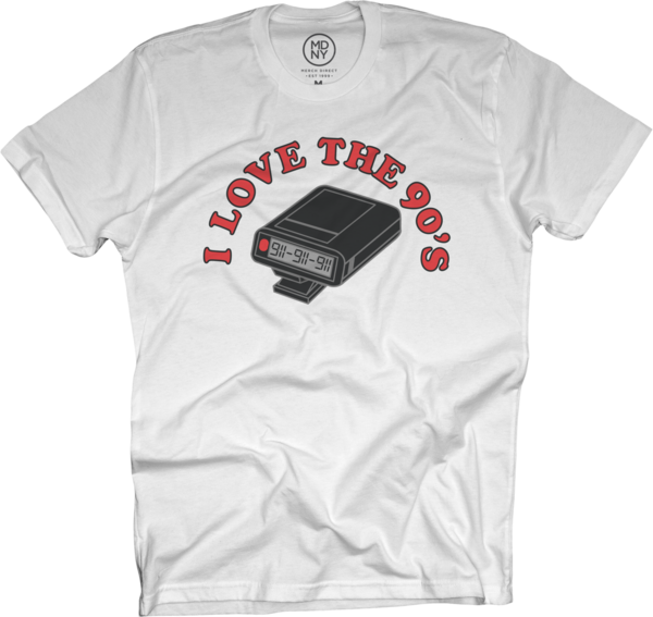 Beeper on White T-Shirt
