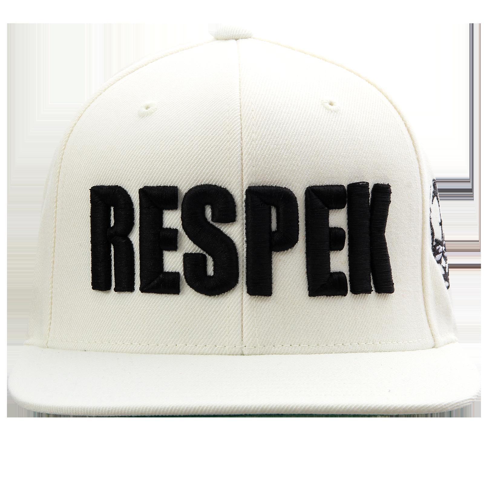 Respek White Snapback