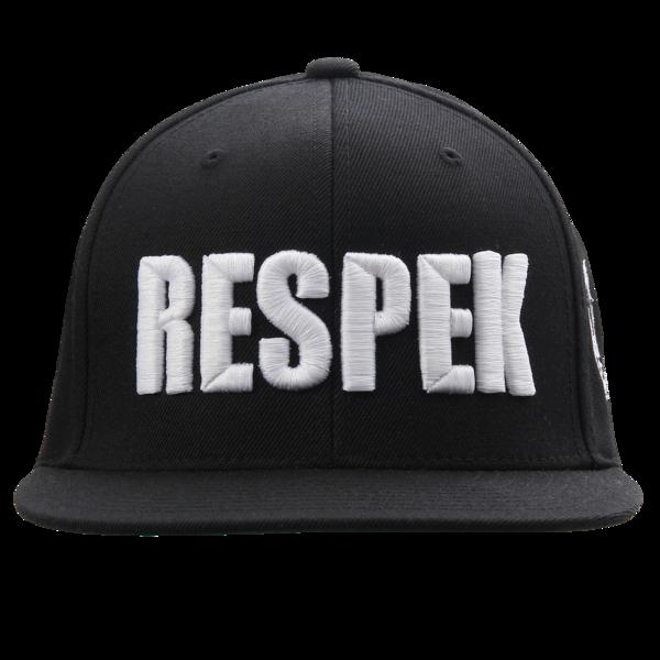 Respek Black Snapback