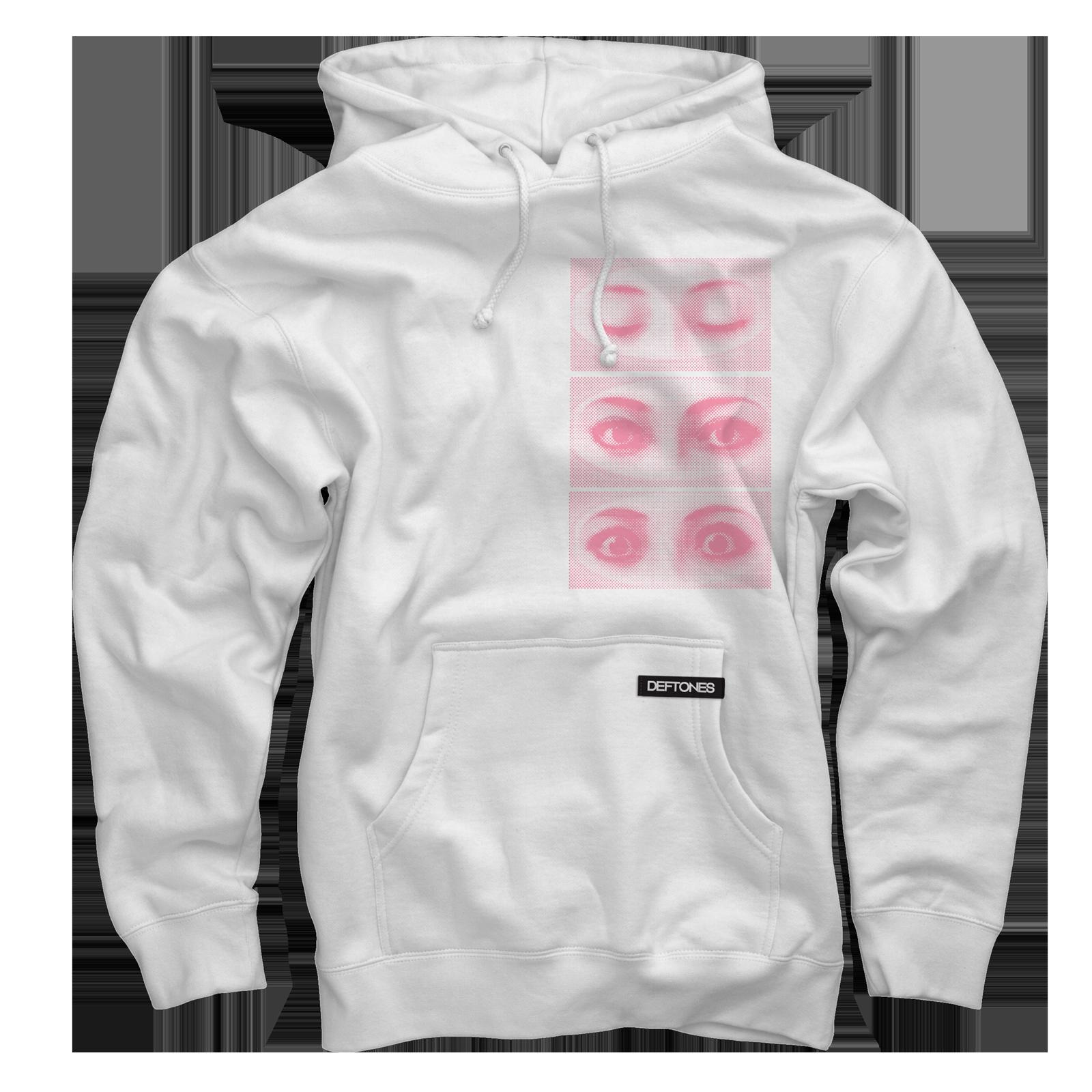 Eyes White Pullover Sweatshirt