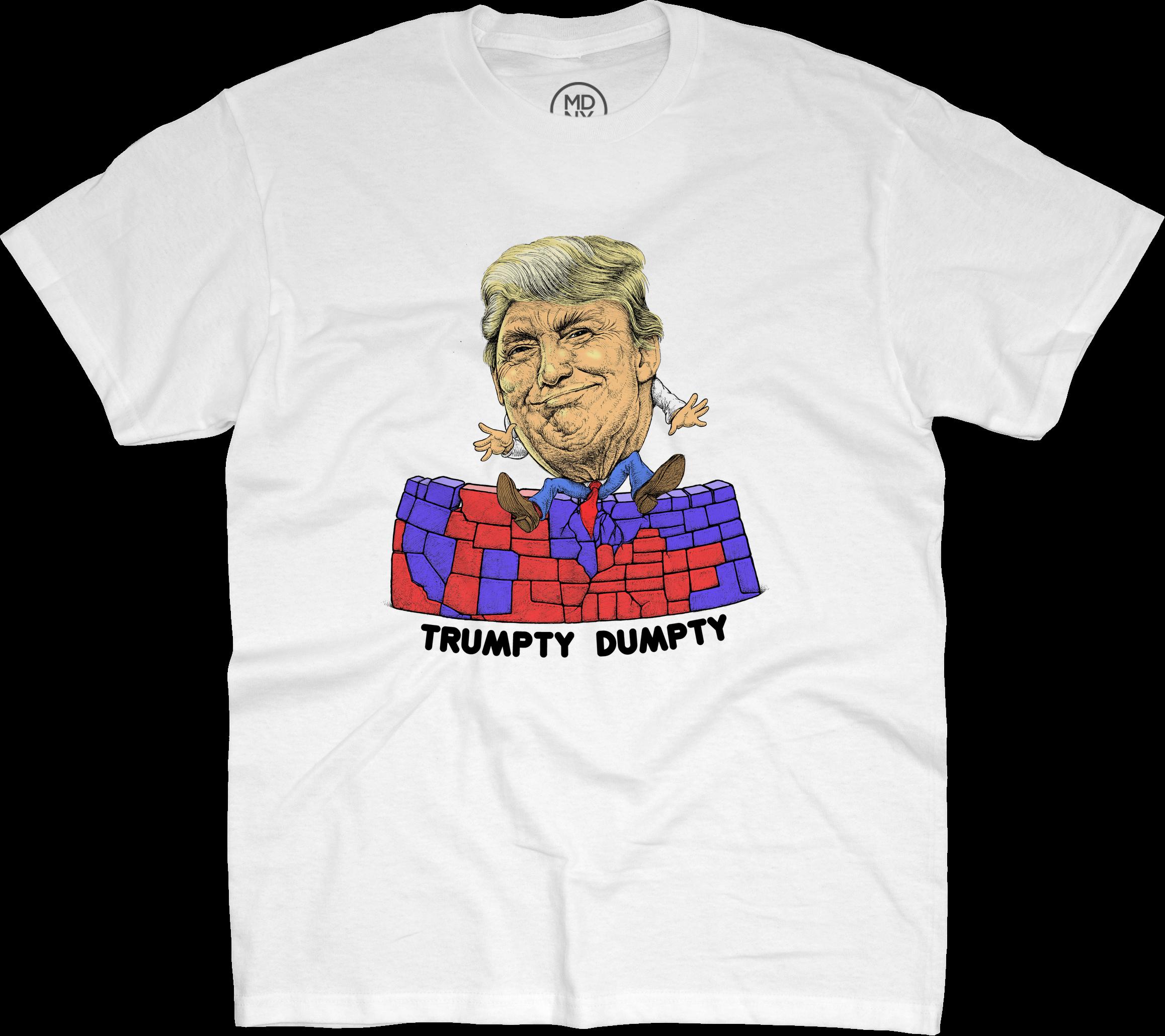 Popaganda Trumpty Dumpty White T Shirt Clash Of The Clans