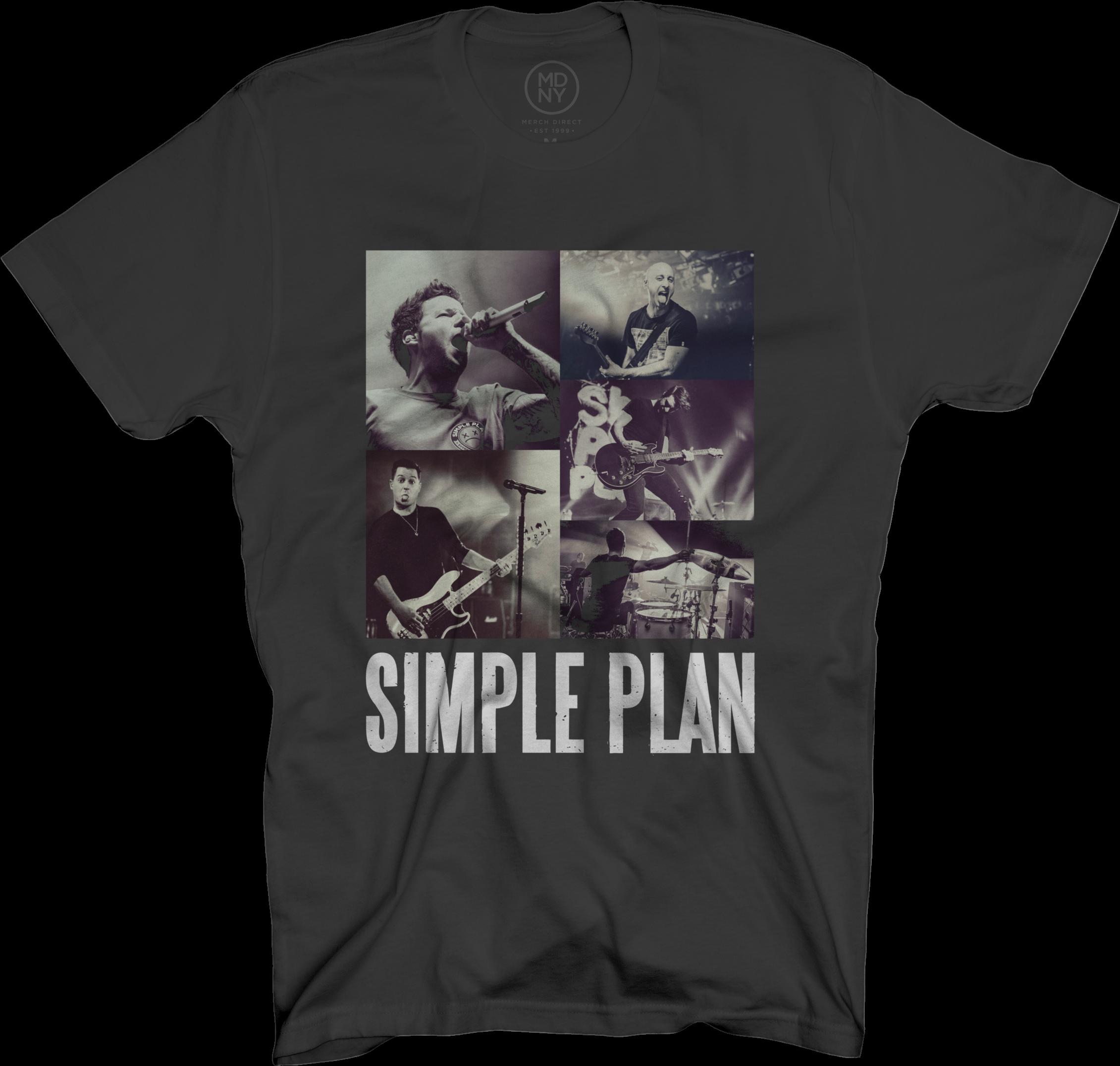 Squares Black T-Shirt