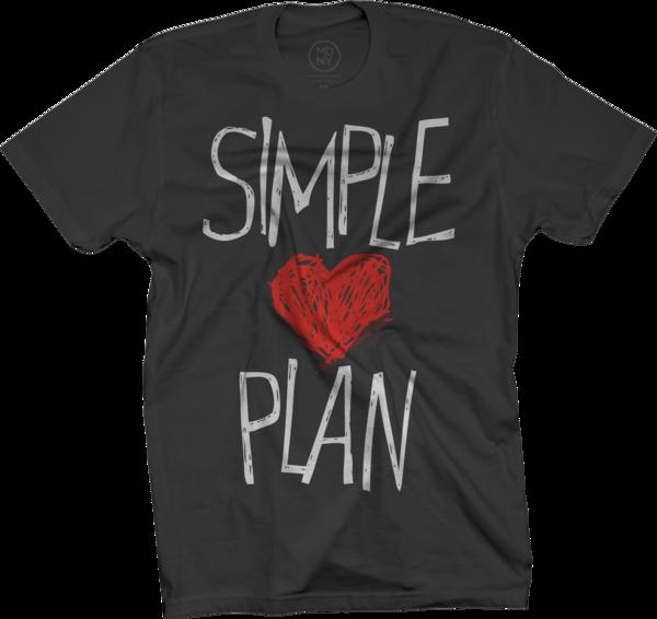 Simple <3 Plan Black T-Shirt