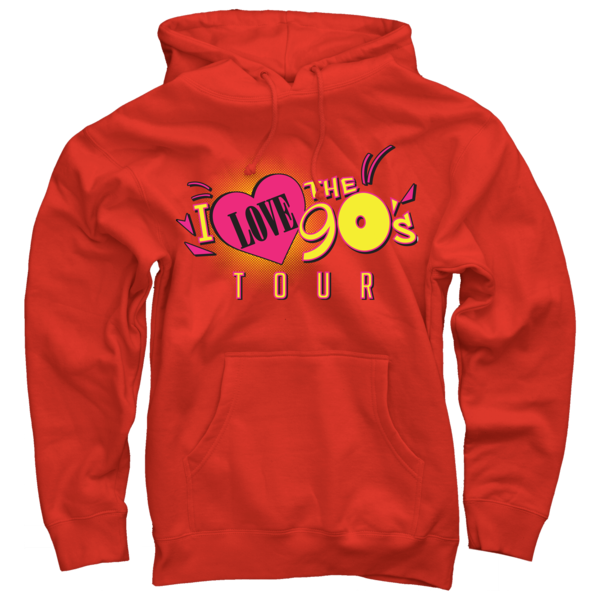 Logo Tour on Red Pullover