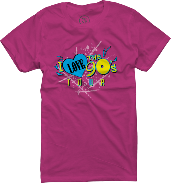 Womens Logo Tour on Fuchsia T-Shirt