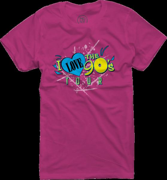 Womens Logo Tour on Fuchsia T-Shirt