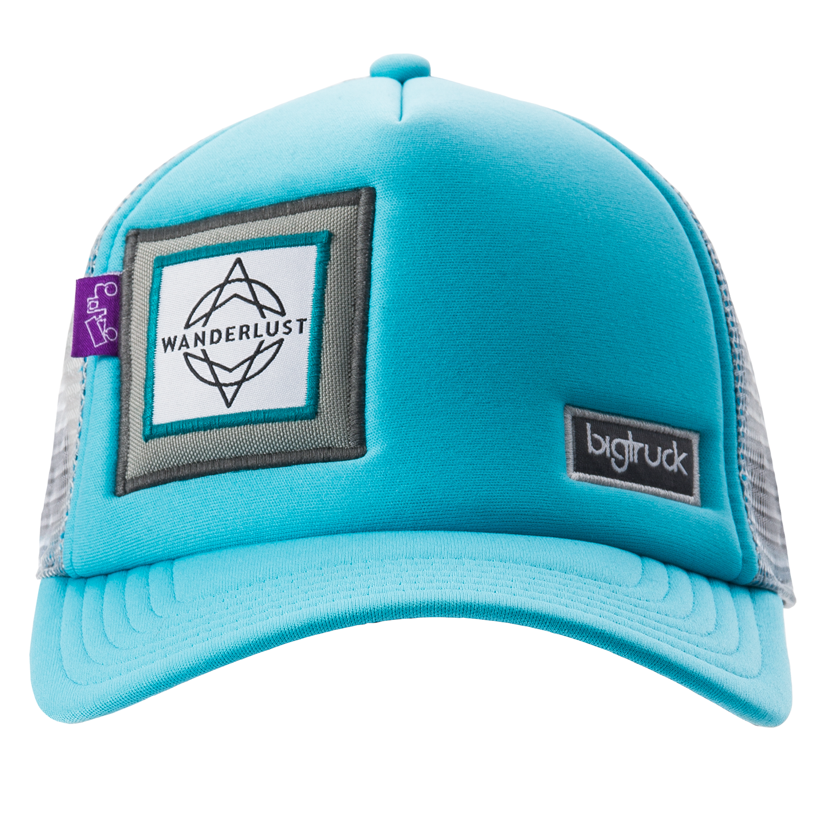 Sky blue grey bigtruck brand trucker hat wanderlust
