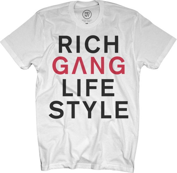 Rich Gang Life Style White T-Shirt