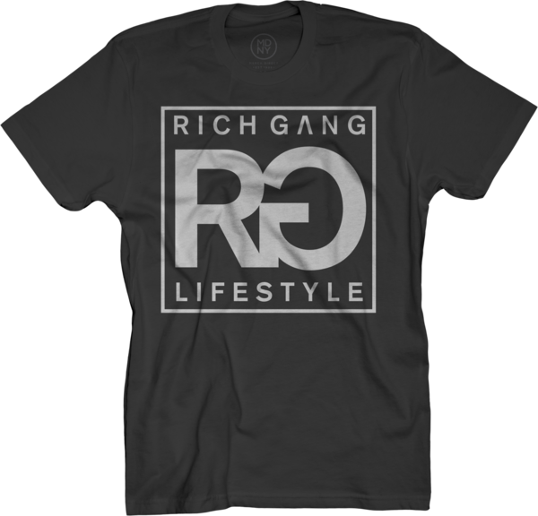 RG Life Style Black T-Shirt