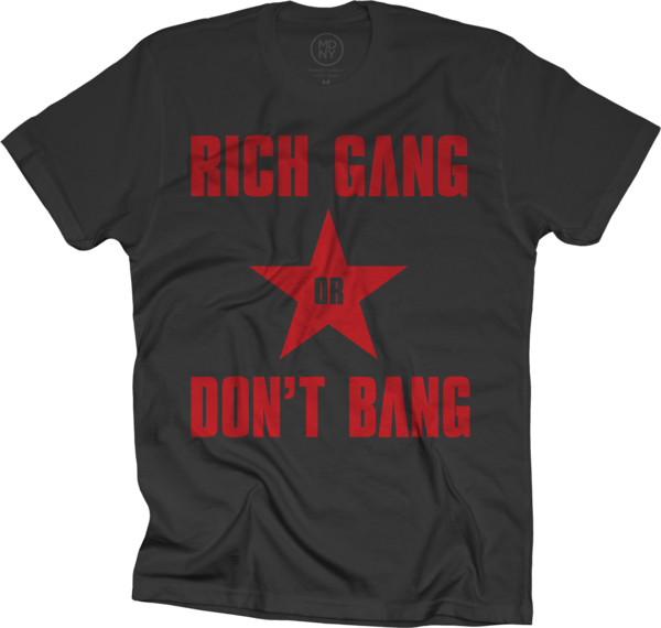 Rich Gang or Red Bang Black T-Shirt
