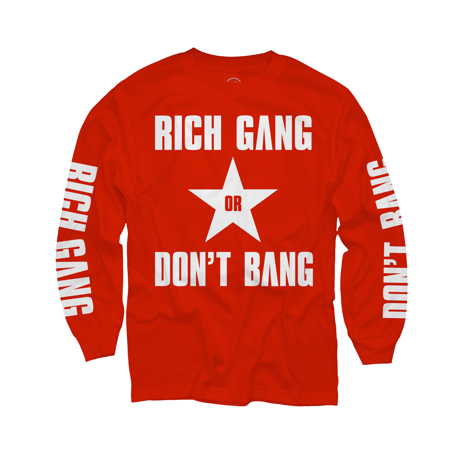 Rich Gang Don't Bang Red Long Sleeve T-Shirt