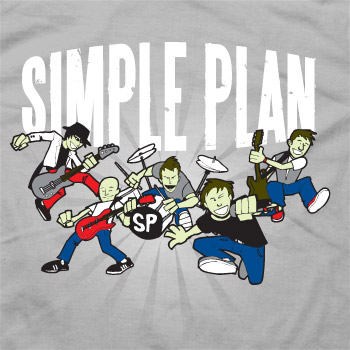 Cartoon Grey T-Shirt