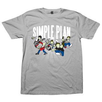 Cartoon Grey T-Shirt