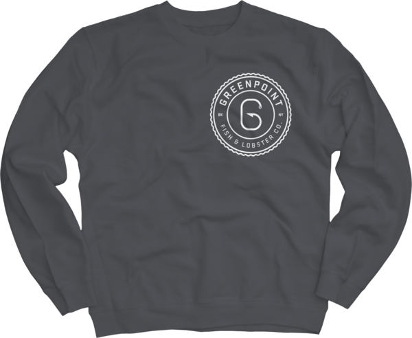 Crew Neck Mens Sweatshirt, Charcoal