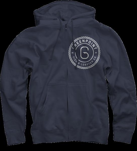Sweatshirt, Zip-Up, Navy