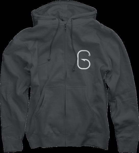 G Hook Zip-Up Sweatshirt, Charcoal