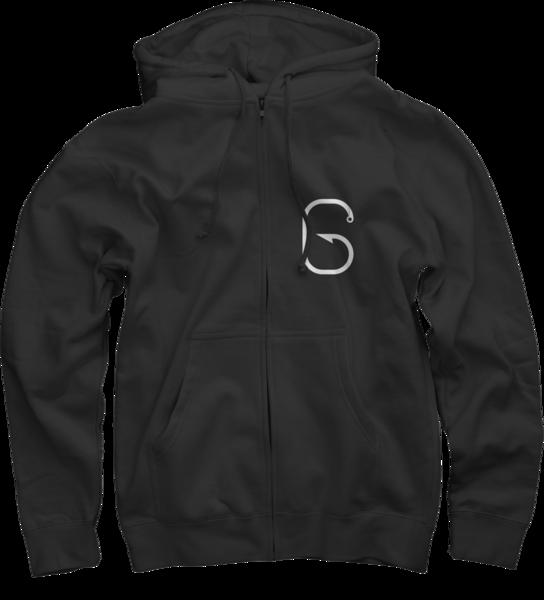 G Hook Zip-Up Sweatshirt, Black