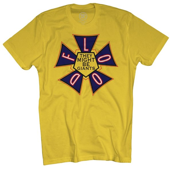 Flood Logo on Yellow T-Shirt