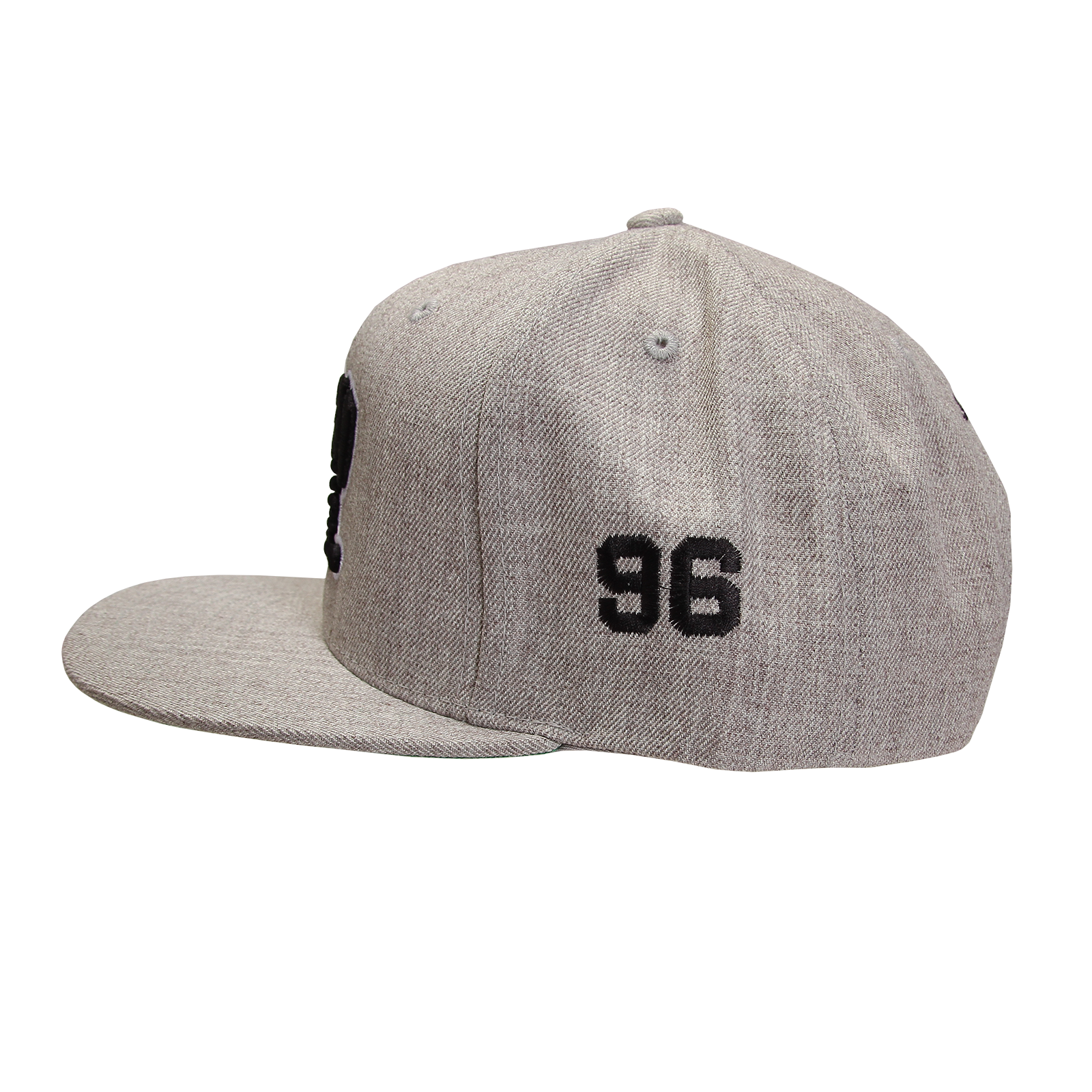Collegiate Black on Heather Grey Snapback