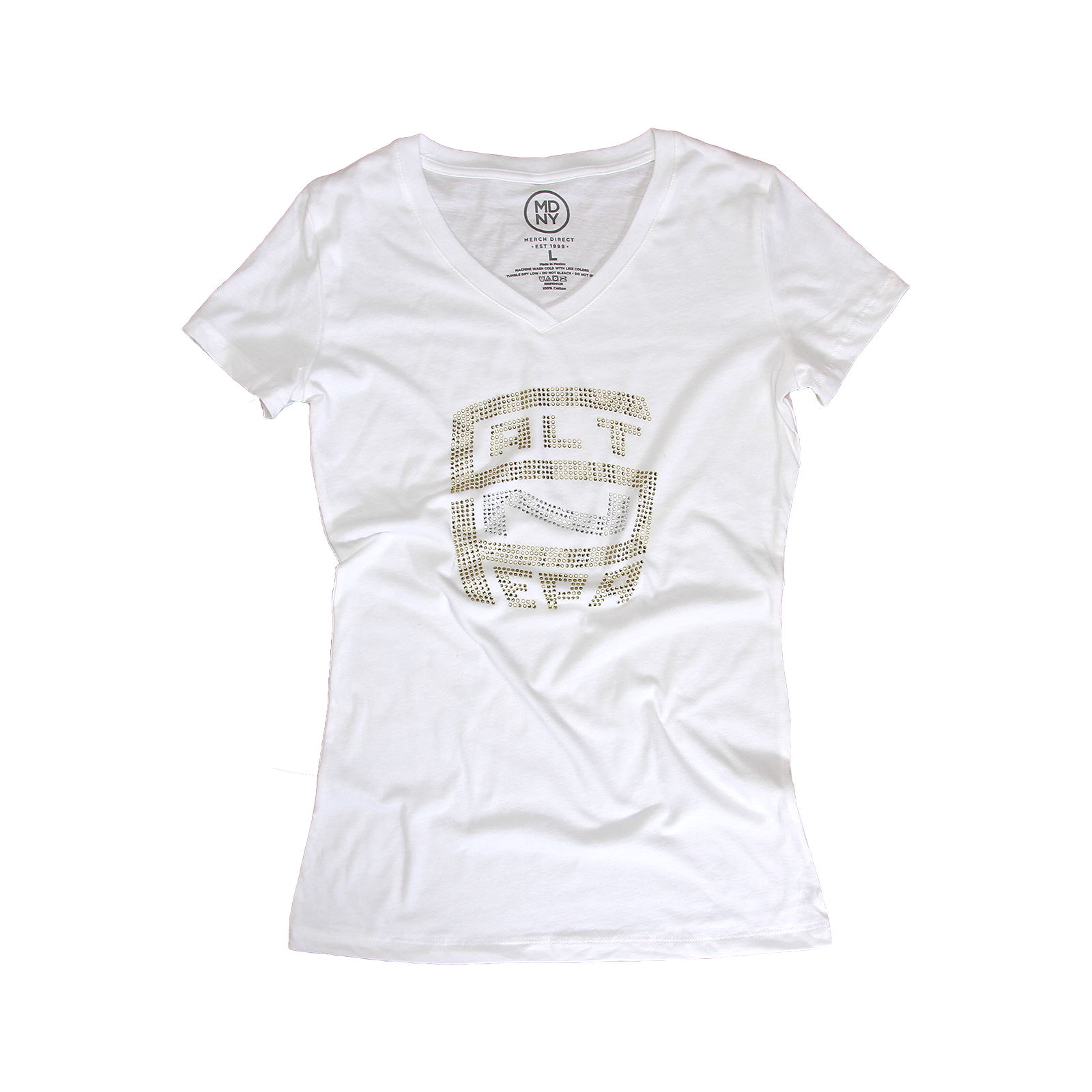 Silver and Gold Bling Women's V-Neck