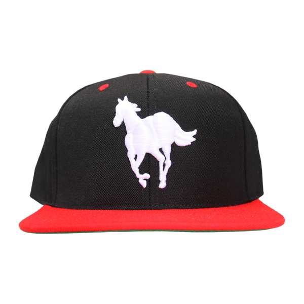 Pony on Black/Red Flatbrim Snapback