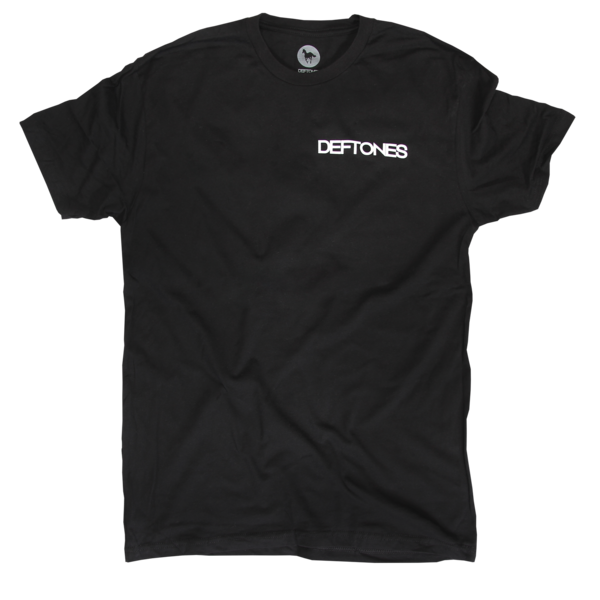 Text Pocket Gore Back Black T-Shirt
