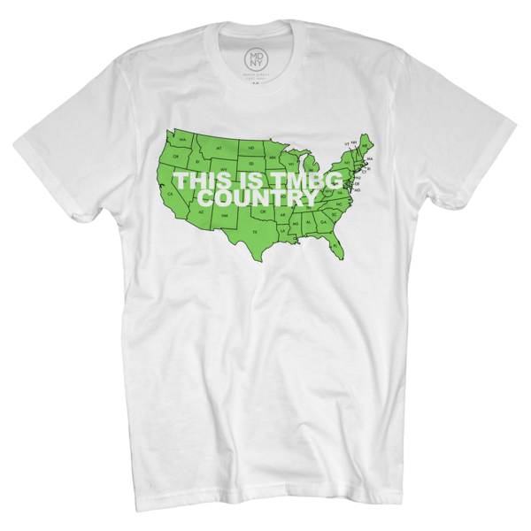 TMBG Country on Unisex White T-Shirt