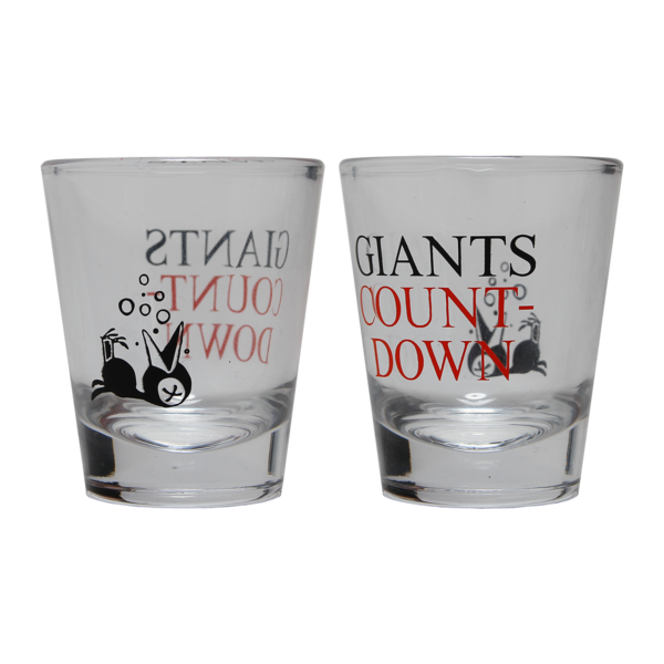 New Year's Countdown shot glass set