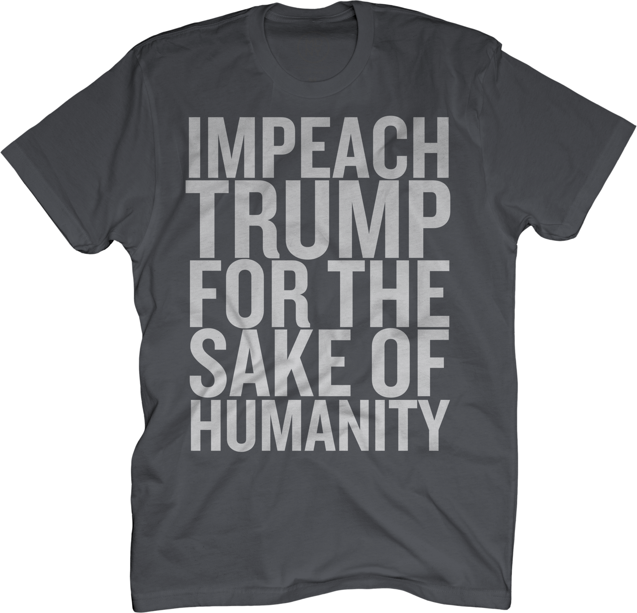 IMPEACH TRUMP gray tee (Mens sizing)